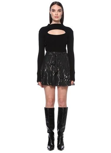 NetWork NetWork 1076402 Parıltılı Kadın Mini Etek Siyah